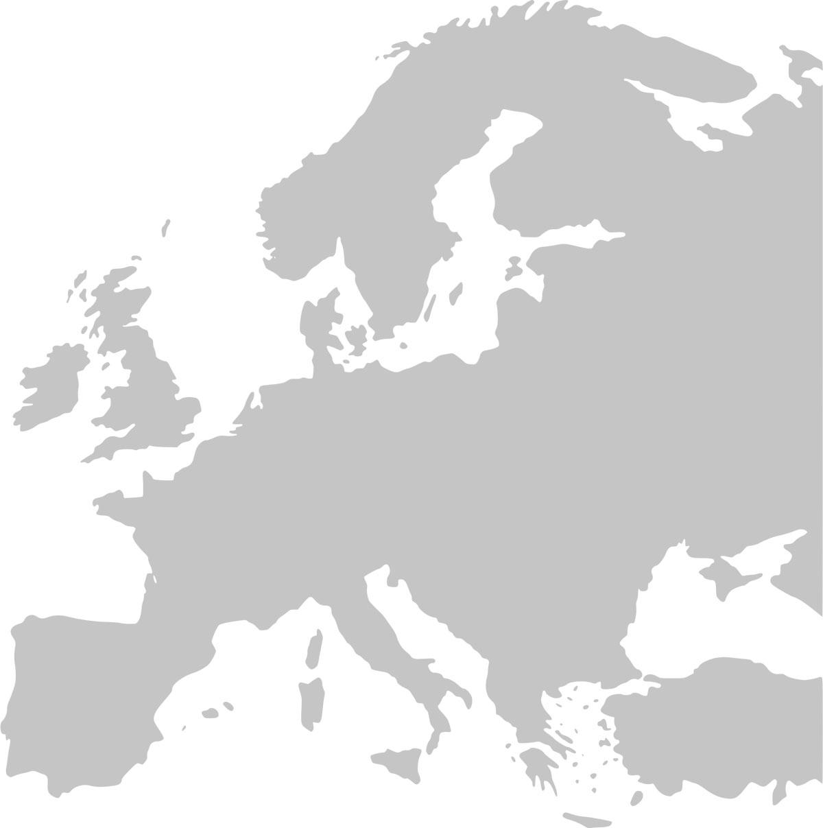 europe map grey